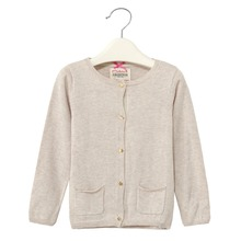 spring&autumn New beige woman sweater coat cotton cardigan kids 's clothes
