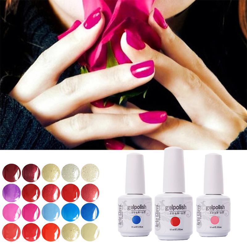 220 Warna 15 ml Arte Clavo 1 Piece Lacquer Led UV Gel Nail Sticker Rendam Off Gel Polish Musim Panas Warna Gel Nail Polish