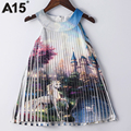 A15 Baby Girls Party Dress Summer 2017 Princess Dress for Teenager Girls Costumes Age 6 8 10 12 14 Year Kids Tutu Dress Clothing