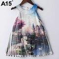 A15 partido das meninas do bebê vestido de verão 2017 vestido de princesa para meninas adolescentes trajes de Idade 6 8 10 12 14 Anos Crianças Tutu Roupas Vestido