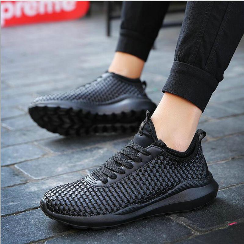 2017 Male Shoes Men Casual Shoes For Adult Cheap Male Shoes Fly Weave breathable lace-up light shoes size 35-47 schoenen mannen