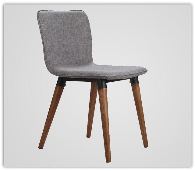 Coffee Chair Ash Solid Wood Legs Fabric Cushion Seat