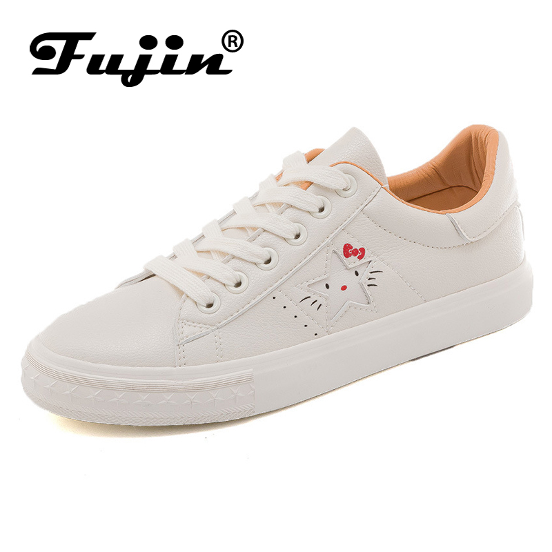 FUJIN Brand Women Casual Shoes Flats Sneakers 2019 Fashion Female Canvas Comfortable for
