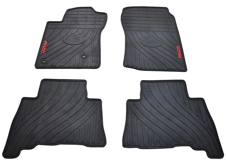 free ship rubber feet five seats mat thicker type green latex waterproof non slip car floor carpets Prado - Xin automitvea Store store