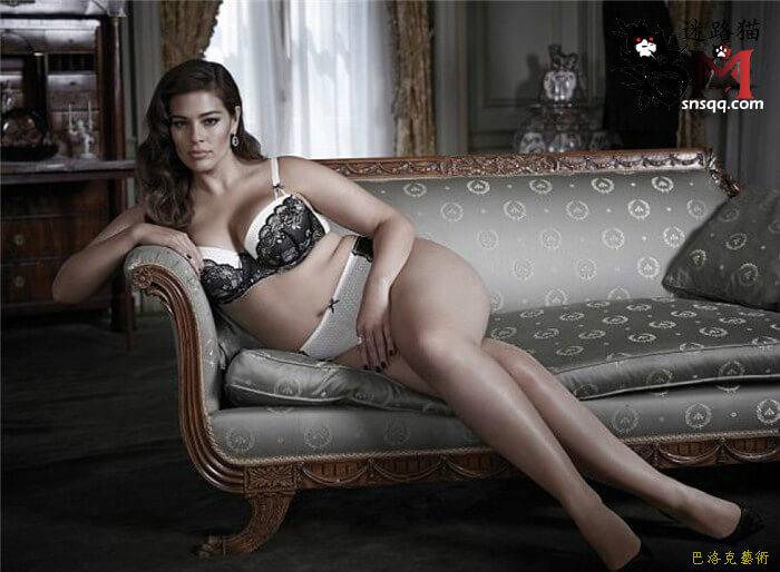 体重180斤的大码模特阿什利,恋胖者的森也有但要更胖才能驾驭吧