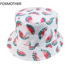 FOXMOTHER New Casquette Summer White Beach Watermelon Bucket Hat Women Korean Fashion Fruit Sun Caps Ladies Gorras