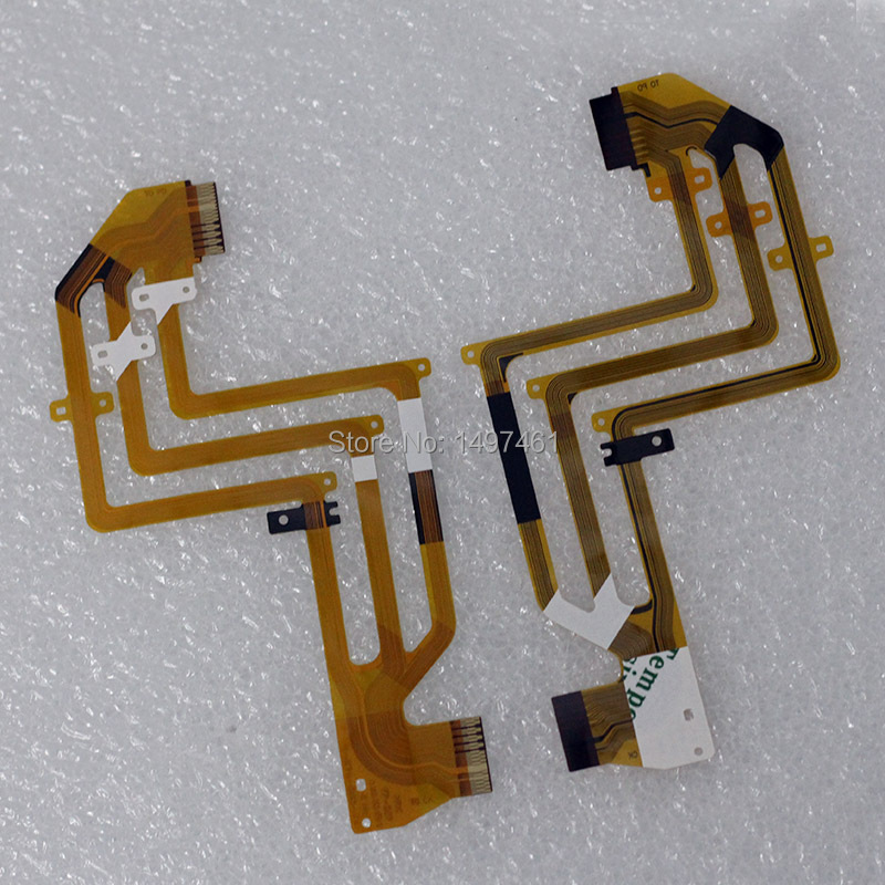 2PCS LCD Hinge Rotate Shaft Flex Cable For Sony HDR-SR11E HDR-SR12E SR11 SR12 Video Camera