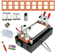 Free shipping mobile phone built in vacuum glass LCD screen separator up to 7 inches + mold + UV glue + line + clean cloth