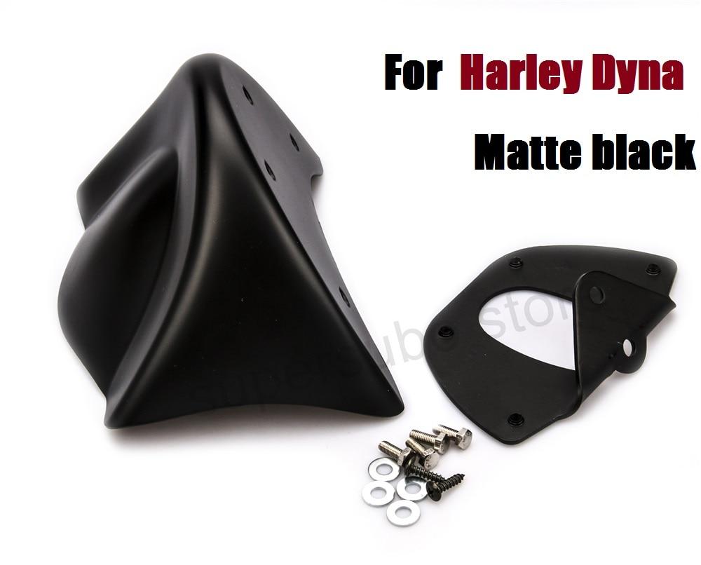 Матовый черный передний спойлер подбородка Харлей Дайна подбородок спойлер фартук обтекатель Комплект для Harley dyna стрит Боб 2006-2017
