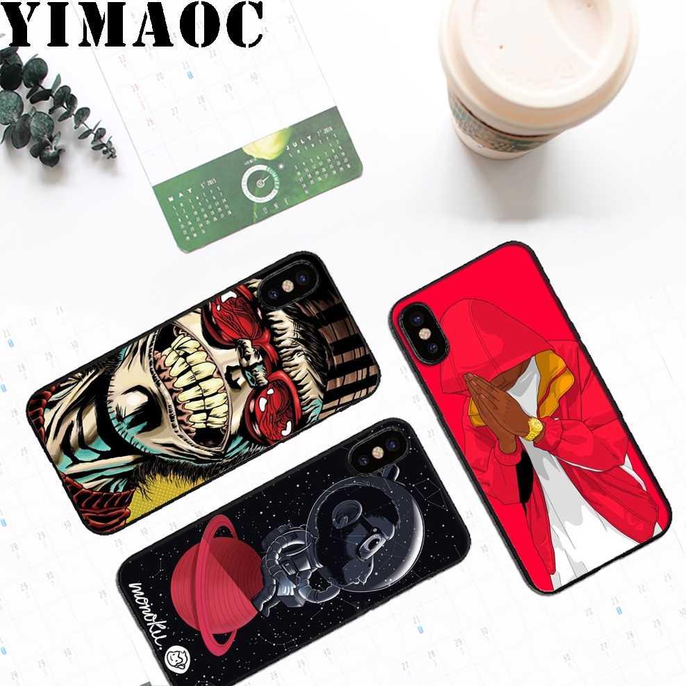 YIMAOC Swag обезьяна мягкий ТПУ Черный силиконовый чехол для iPhone Xr Xs Max X или 10 8 7 6 6 S Plus 5 5S SE
