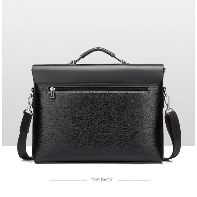 New 2018 Brand Business Men Briefcase Bag pu Leather Luxury Messenger Laptop Bag Office Large Capacity Black Handbags Men