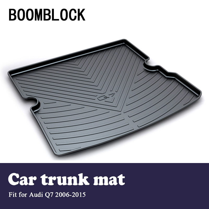 BOOMBLOCK For Audi Q7 2006 2007 2008 2009 2010 2011 2012 2013 2014 2015 Waterproof Anti-slip Car Trunk Mat Tray Floor Carpet Pad