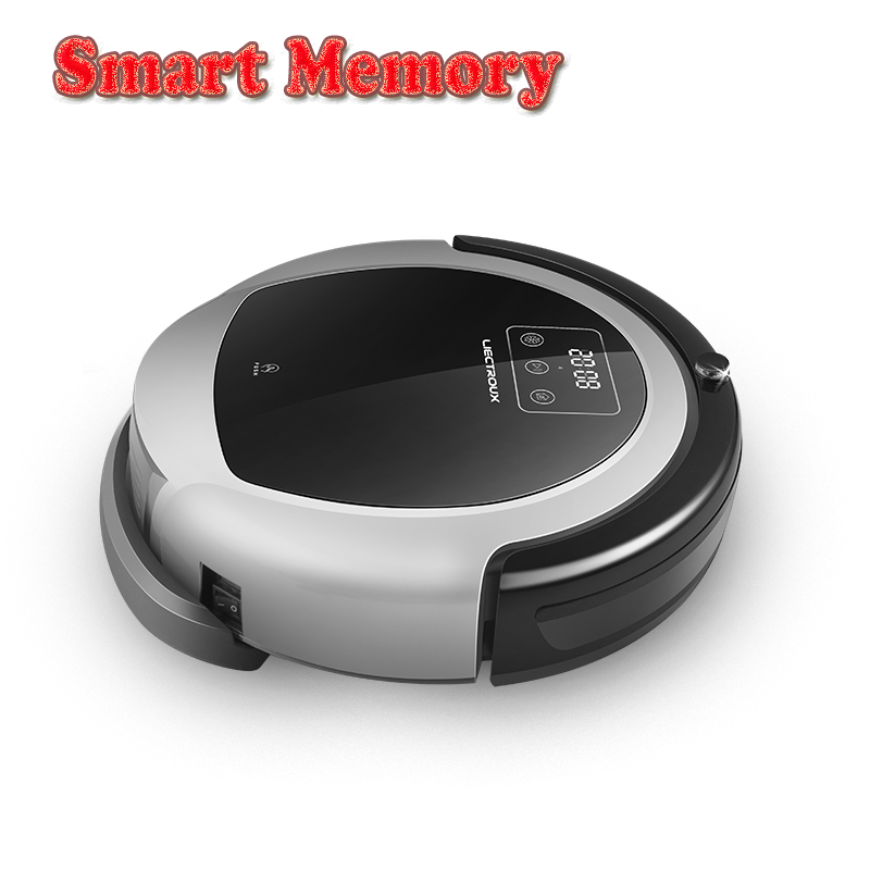 LIECTROUX Robotic Vacuum Cleaner B6009 2D Map Gyroscope Navigation With Memory Strong Suction Dual UV Lamp