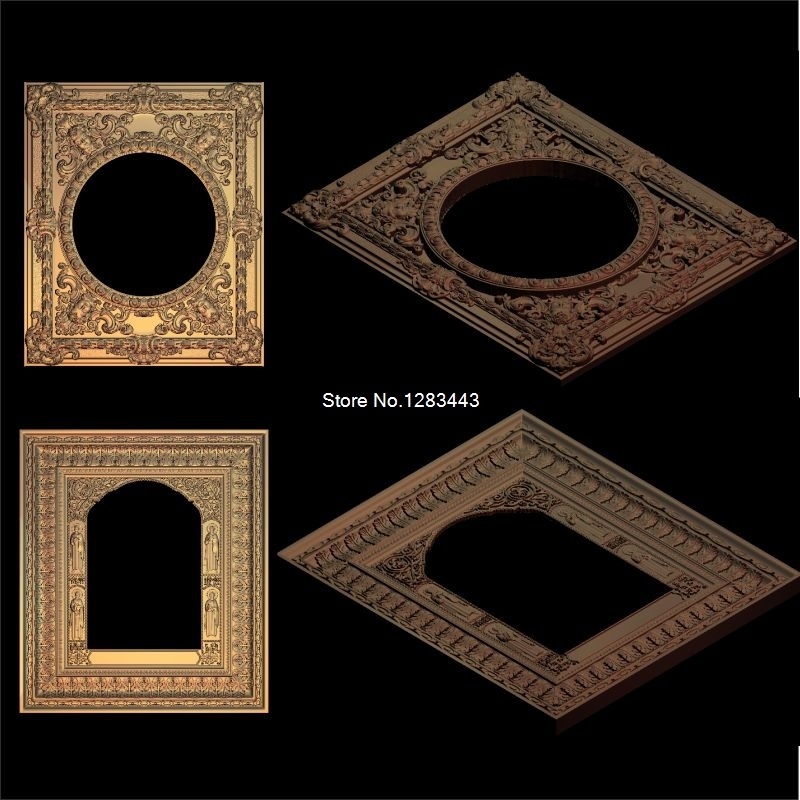 2pcs Christian_Picture frame 3d model STL relief for cnc STL format 3d Relief Model STL Router  Engraver ArtCam 15pcs set round frame 3d model stl relief for cnc stl format frame 3d relief model stl router 3 axis engraver artcam