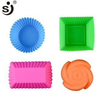 6pcs Silicone Mold Heart Cupcake Soap Silicone Cake Mold 1