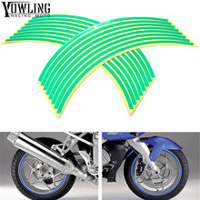 For Kawasaki Z750 Z750R Z750S R S Z800 ZR10R ZR6R ZR750 Colorful motorcycles wheel stickers Reflective Rim moto Stripe Tape new hot sell motorcycle 17 inch wheel decal reflective stickers rim stapes for kawasaki z750 z 750