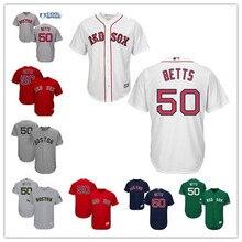 3cbf8130d Men's Boston Red Sox Mookie Betts White Gray Navy Scarlet Alternate Cool  Base Felx Base Player Jersey Size XS-6XL