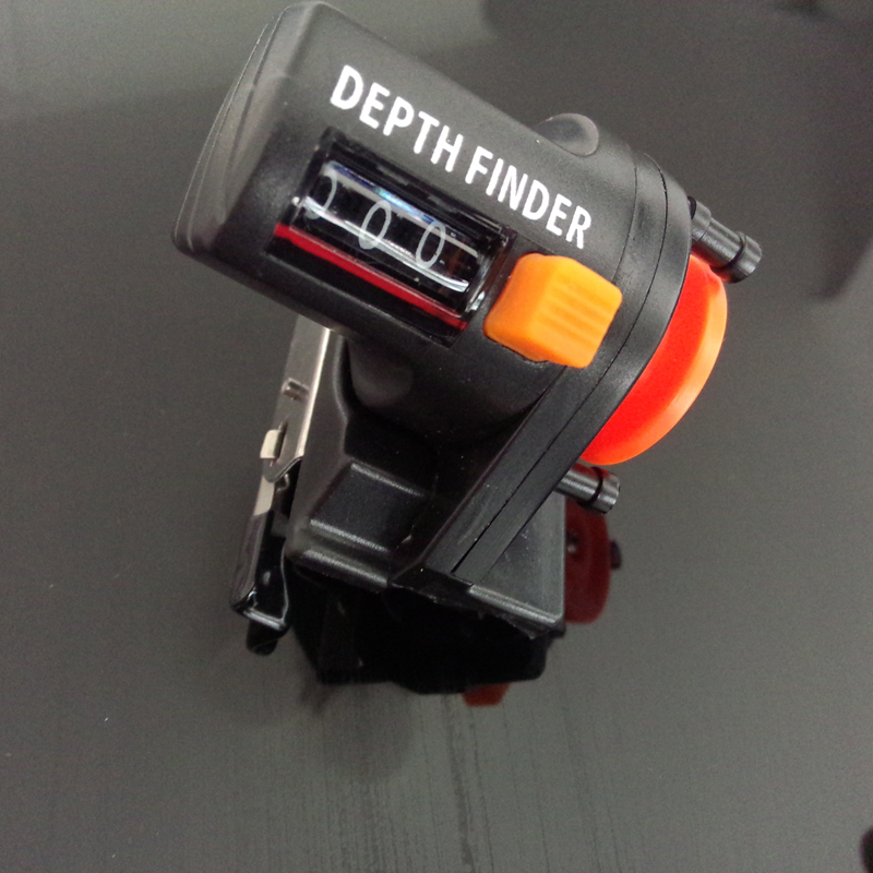 Medidor de profundidade para pesca, 1 peça, 0-999m, 6cm, ferramenta para pescar, equipamento de comprimento, balcão