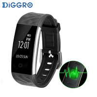 Diggro S2 Bluetooth Smart Band Bracelet Real Time Heart Rate Monitor IP67 Fitness Tracker Wristband For