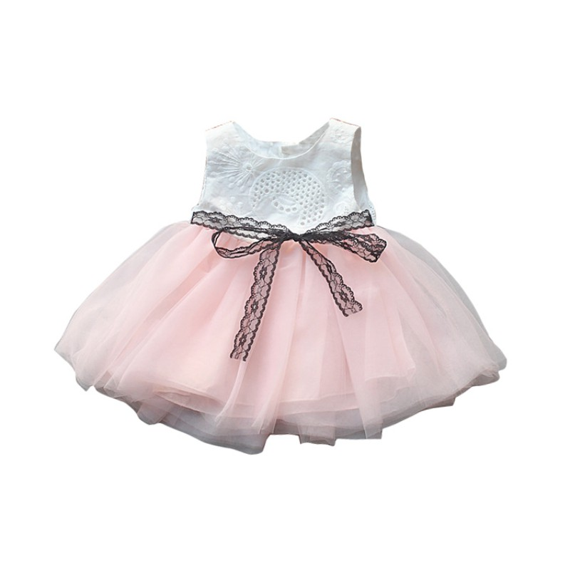 US Toddler Kids Baby Girls Lace Bowknot Dress Party Prom Bridesmaid Tutu Dresses