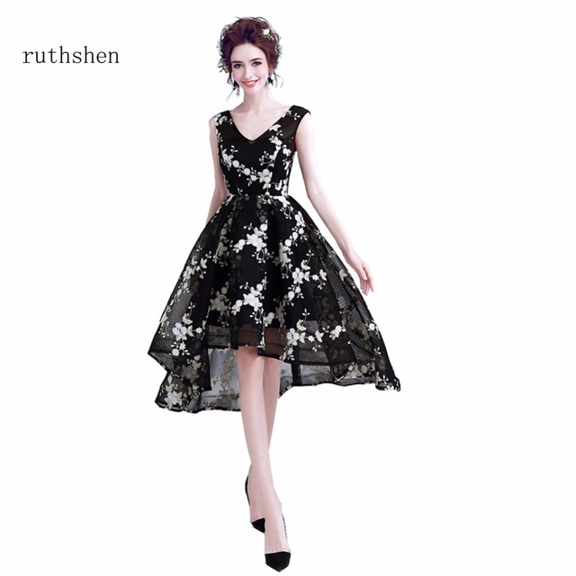 Ruthshen 2018 Short Cocktail Party Dresses Cheap Black Formal Prom