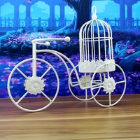 Modern Decorative Tricycle Model Candle Holders White Iron Desktop Christmas Candles Holder Votive Candles Table Bougeoir