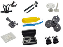 Go pro kit accessories Buckle+Mount for chest harness Strap+Anti fog+suction Cup+Monopod+Bodyboard Mount+collect bag Gopro
