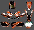 New  (0388 ) TEAM GRAPHICS&BACKGROUNDS DECALS STICKERS Kits Fit for KTM SX85 2006 2007 2008 2009 2010 2011 2012