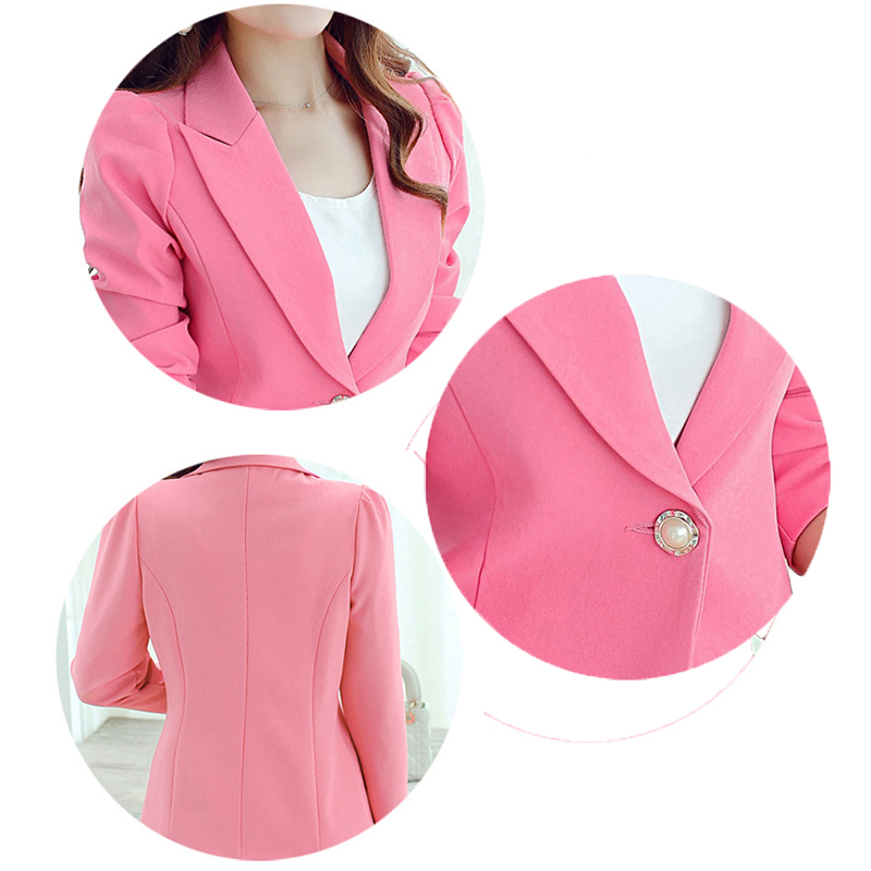 QBK DPU brand fashion casual autumn jacket tops women pink college ...