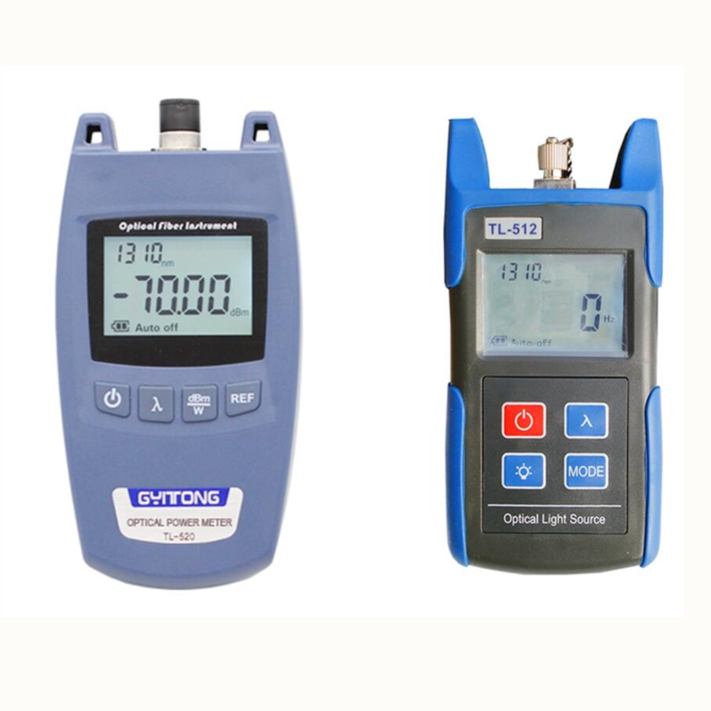 FTTH Optical Power Meter Optical Network Tester-70 to+10dbm TL520A+TL512 Optical Light Source 1310/1550nm Single Mode FiberFTTH Optical Power Meter Optical Network Tester-70 to+10dbm TL520A+TL512 Optical Light Source 1310/1550nm Single Mode Fiber