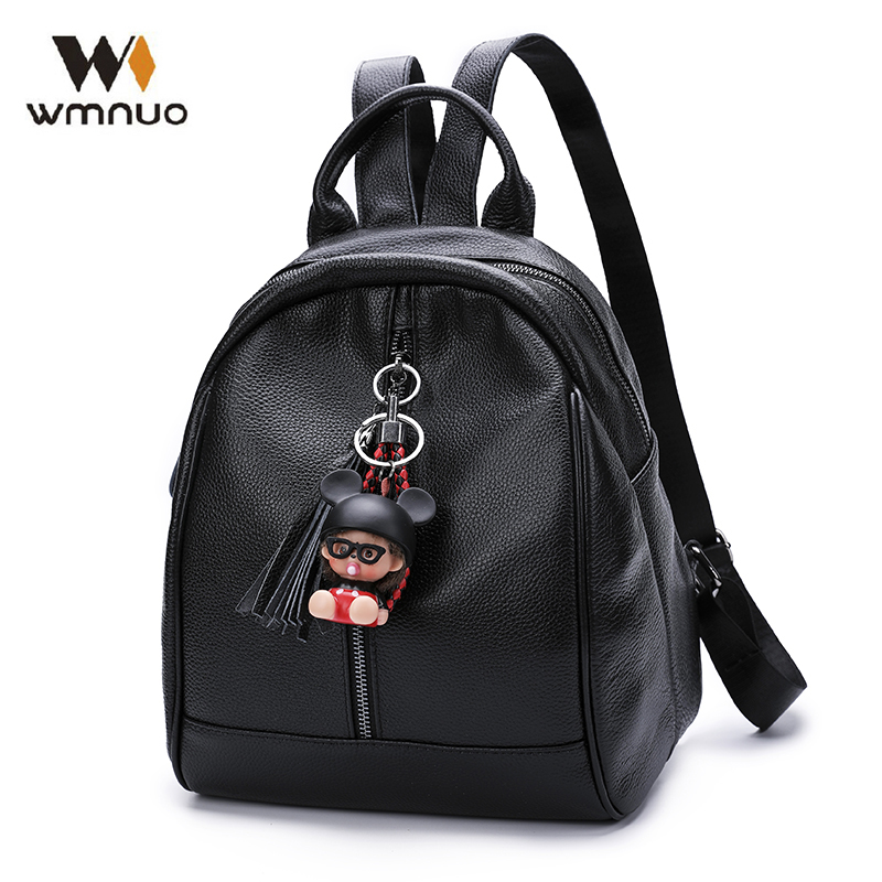 Wmnuo Women Backpack High Quality Genuine Cow Leather Female Bagpack Mochila Girl School Bags 2018 Fashion Casual Travel Bags все цены