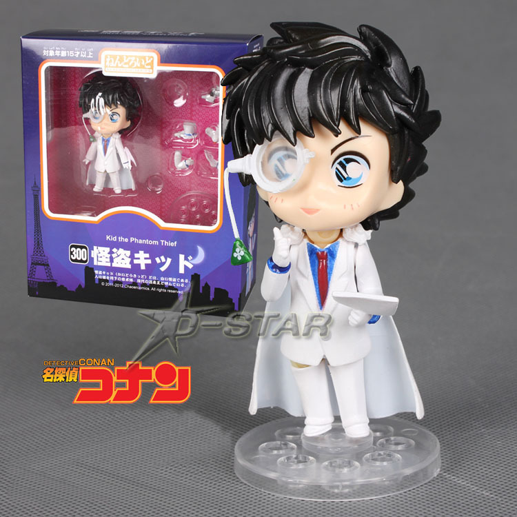 "Cute 4 inch"" Nendoroid Detective Conan KAITO KID PVC Action Figure Model Collection Toy #300 inch"