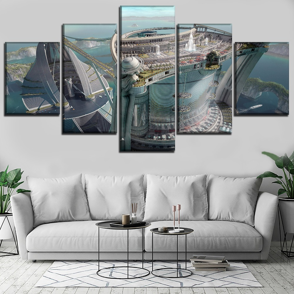 Architecture HD Print Wall Art Canvas Painting Modern Home For Living Room Decor Picture