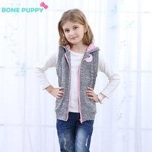 17-year girl sleeveless hoodie, girl spring fall velvet sleeveless hooded sweater, 3-9-year-old girl jacket