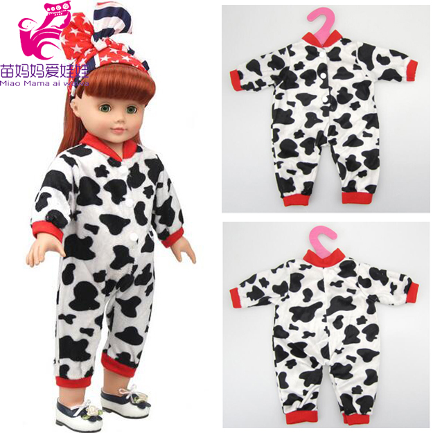 ᗐ1 piezas American Girl muñeca ropa de una sola pieza de vaca ...