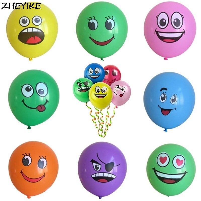 ZHEYIKE 1 шт. латексный шар случайный цвет воздушные шары Свадебный декор воздушный шар День рождения Забавный эмодзи баллон Надувные шарики ...