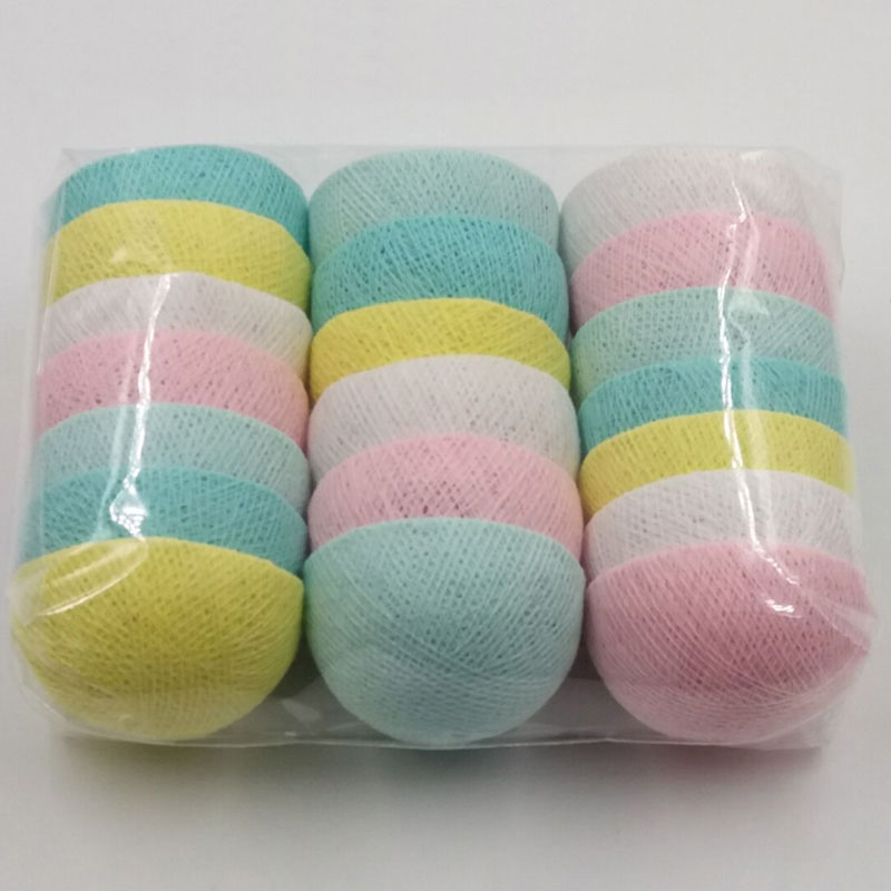 YIMIA Colorful DIY Cotton Balls(NO Lights) 35 Christmas Outdoor/Indoor Decoration Holiday Party Wedding Baby Kid Room Decoration