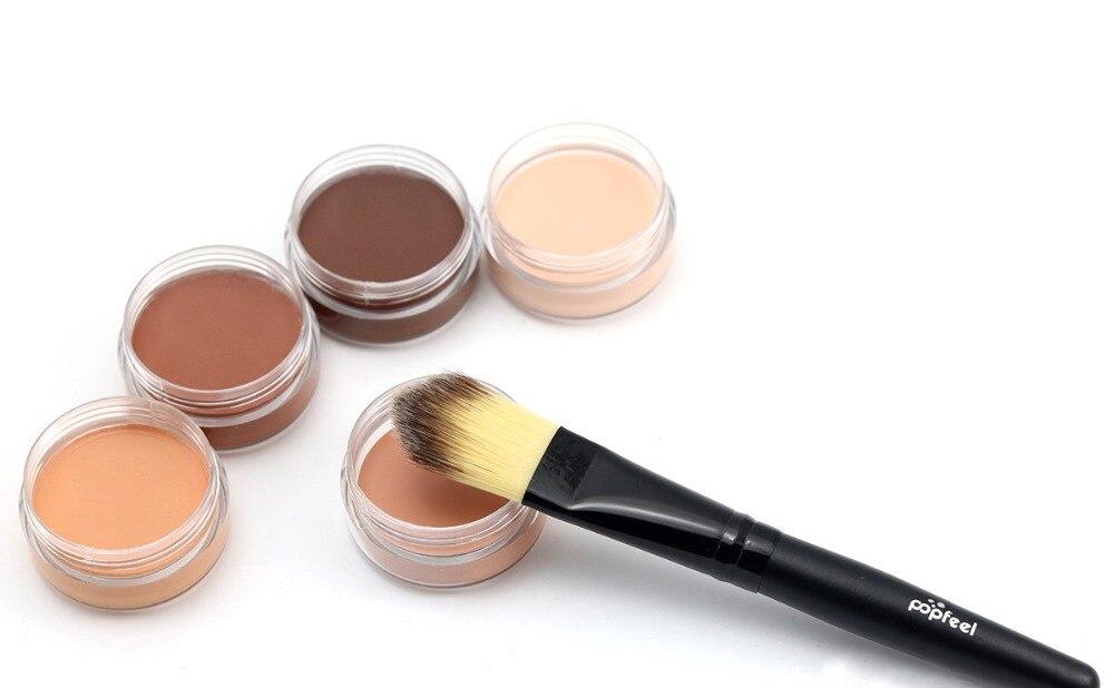 Single Color Concealer Cream 5 Colors Optional Strong Corrector Skin Reduce Wrinkle Eye Black Circle Hide Blemish Face Eye HOT