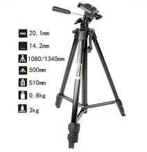 Professional 1.34M Aluminium Tripod Camera Accessories Stand with Pan Head &  Spirit Level for DSLR