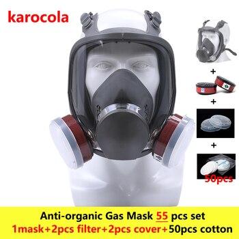 55in1 Kimyasal Gaz Maskesi 6800 Tam Yüz Yüz Parçası Maske Maske