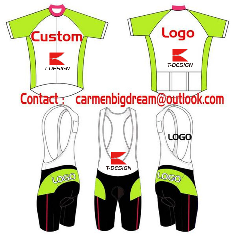Factory Price Custom Cycling Set Short Sleeve Jersey+BIB Shorts DIY Bicycle Wear Clothes Any Color Any Size Top Quality 2016 custom roupa ciclismo summer any color any size any design cycling jersey and diy bicycle wear polyester lycra cycling sets