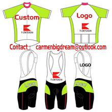 Factory Price Custom Cycling Set Short Sleeve Jersey+BIB Shorts DIY Bicycle Wear Clothes Any Color Any Size Top Quality