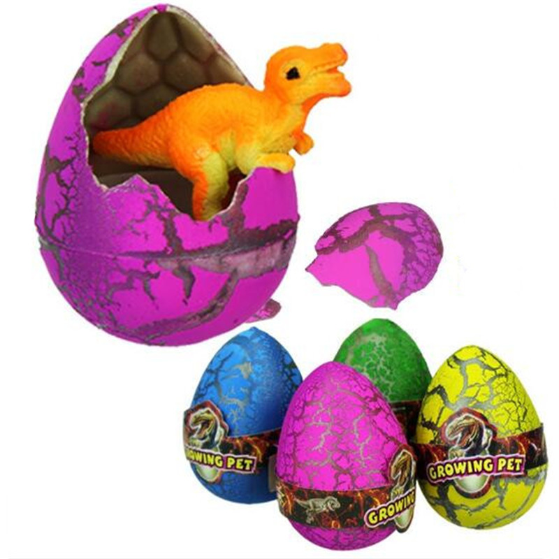 10Pcs/Lot Funny Magic Hatching Growing Colorful Dinosaur Eggs Add Water Growing Dinosaur Toys For Kids Education Toys Gift