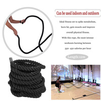 Elastic Poly Physical Training battle grappling Rope 12M Fencing Resistant Belt Wrestle Leg Arm Physical Power Strength Rope