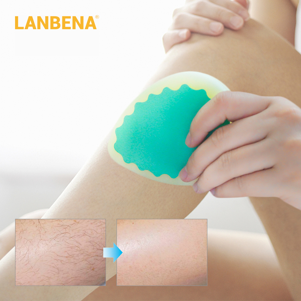 LANBENA Painless Hair Removal Sponge Magic Hair Remover Pad For Body Arm Leg Hair Trimmer Depilation Tool Makeup Beauty Set novashop 365