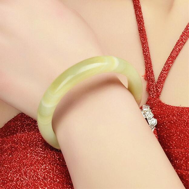 Bracelets & Bangles Hearty Cuff Natural Stripe Cyan Calcite Yu Beautiful Sweet Women Charm Bangle Bracelet Luck/ Bangles