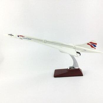 45-47 CM, CONCORDE BRITISH AIRWAYS 1: 150, modelo de avión de aleación, Colección, modelo de avión, juguetes, regalos, envío exprés gratis EMS/DHL/entrega