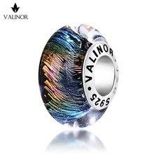 По одному flash муранское стекло бусины 925 серебро Fit Браслеты для Для женщин jewelry Мода JKLL003