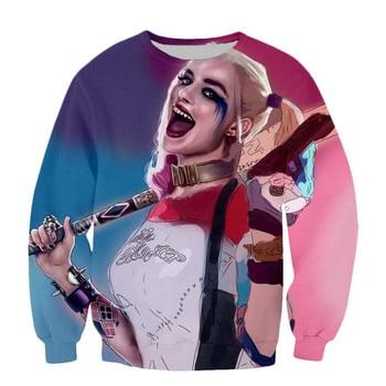 New Suicide Squad Women Men Sweatshirts print Harley Quinnjoker 3d Hoodies casual Long Sleeve Pullovers Unisex Outerwear Tops худи xxxtentacion