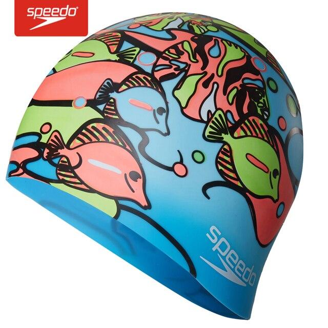Speedo Touca de natação para Crianças 100% de Gel de Sílica para a Menina e c0597630023